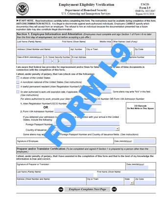 form i-9 current  E-Alert: Employers Should Continue to Use Current Version of ...
